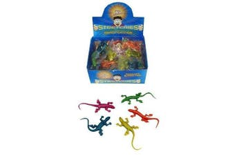 12 STRETCHY LIZARDS GREAT PARTY BAG TOYS (LIZARDS ONE COLOUR) by Henbrandt