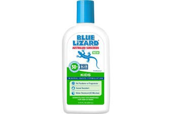 (260ml) - Blue Lizard Australian Sunscreen - Kids Sunscreen, SPF 30+ Broad Spectrum UVA/UVB Protection - 260ml Bottle