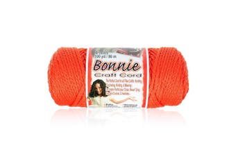 (Orange) - Craft County - 4MM Bonnie Cord - 100 Yards - Wide Variety Colour Selection - Macrame Cord