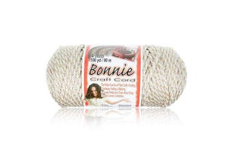 (Oatmeal) - Craft County - 4MM Bonnie Cord - 100 Yards - Wide Variety Colour Selection - Macrame Cord