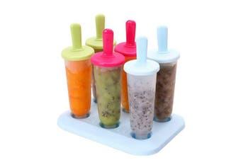 (6pcs) - Popsicle Moulds Set, INTVN Ice Pop Makers Ice Pop Moulds Ice Bar Maker Plastic Ice Lolly Moulds Lolly Makers Kitchen Supplies, 3 Colours