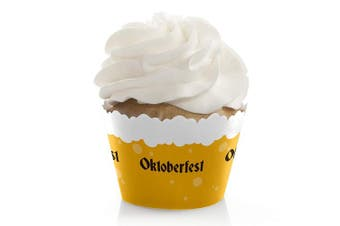 Oktoberfest - Party Decorations - German Beer Cupcake Wrappers - Set of 12