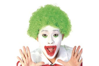 (Green) - Funny Curly Afro Wig World Cup Football Fan Cosplay Wig Humour Clown Wig 6 Colour (Green)