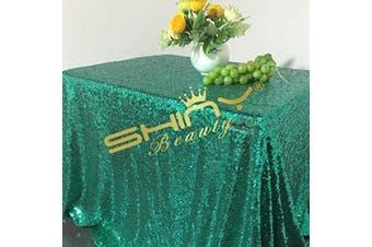 (150cm  x 260cm , Green) - 150cm x 260cm Rectangular Sequin Tablecloth,Sparkly Green Sequin Tablecloth (150cm x 260cm , Green)