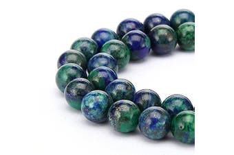 "(4mm, Lapis Chrysocolla) - 2 Strands Top Quality Natural Lapis Chrysocolla Gemstone Beads 4mm Round Loose Beads 15.5"" #GF1-4"