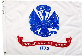 (0.6m x 0.9m) - Annin Flagmakers Model 439033 U.S. Army Military Flag 0.6m x 0.9m Nylon SolarGuard Nyl-Glo 100% Made in USA to Official Specifications. Officially Licenced Manufacturer.