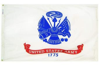(0.9m by 1.5m) - Annin Flagmakers Model 439035 U.S. Army Military Flag 0.9m x 1.5m Nylon SolarGuard Nyl-Glo 100% Made in USA to Official Specifications. Officially Licenced Manufacturer.