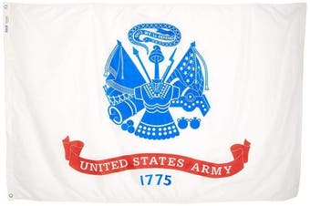 (1.2m by 1.8m) - Annin Flagmakers Model 439021 U.S. Army Military Flag 1.2m x 1.8m Nylon SolarGuard Nyl-Glo 100% Made in USA to Official Specifications. Officially Licenced Manufacturer.