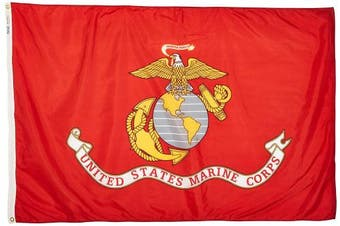 (1.2m by 1.8m) - Annin Flagmakers Model 439007 U.S. Marine Corps Military Flag 1.2m x 1.8m Nylon SolarGuard Nyl-Glo 100% Made in USA to Official Specifications. Officially Licenced Manufacturer.