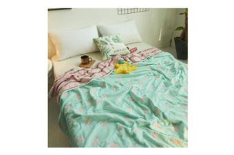 (110cm  x 140cm , Flamingo 01) - Uozzi Bedding 6 Layers of 100% Hypoallergenic Muslin Cotton Premium Toddler Blanket Winter Lightweight Quilt/Throw Blanket for Teens, Adults (Flamingo 01, 110cm x 140cm )