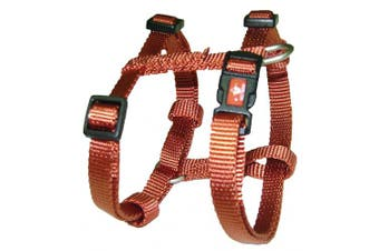 (Large, 2.5cm  x 7.6cm  - 10cm , Red Brick) - Hamilton Adjustable Comfort Dog Harness Fits Chest Size 30 to 100cm with Brushed Hardware Ring