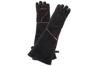(Women's, Black) - Minuteman International Women's Fireplace Hearth Barbeque Glove, Black