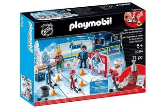 PLAYMOBIL NHL Advent Calendar-Road to the Cup Playset, Multicolor