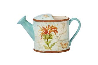 Certified International 23636 Herb Blossoms 3-D Watering Can Pitcher 2.8l. Ceramic Serve Ware, One Size, Multicoloured