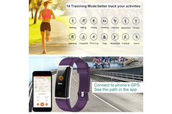 (Purple) - Willful Fitness Tracker, Fitness Watch Activity Tracker with Heart Rate Monitor Watch, IP68 Waterproof Sleep Monitor Step Counter 14 Sport Modes,Pedometer for Women Men Kids (Colour Screen,2018 Ver)