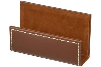 (Brown) - Dacasso Leather Business Card Holder, Rustic Brown (A3207)