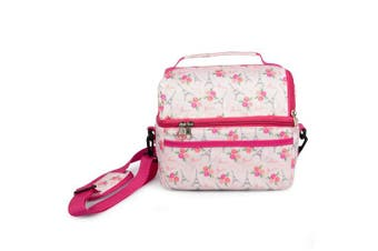 (Paris) - Insulated Durable Lunch Bag - Reusable Lunch Box Tote With Handle and Pockets - Dome Paris