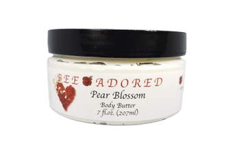 (8 Fluid Ounce, Pear Blossoms) - Bee Adored Body Butter, Pear Blossoms, 8 Fluid Ounce
