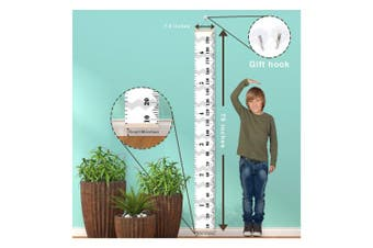 Scotamalone Growth Chart, Baby Kids Growth Height Chart, Hanging Measuring Ruler, Canvas Height Chart, Wall Dector for Nursery Room, Removable Height and Growth Chart, Easy to Draw & Record, Precious Gift for Kid Boys Girls 200x20CM