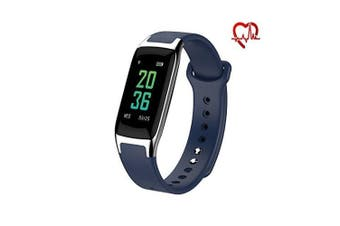 (blue) - Rorsche Fitness Tracker,Heart Rate Monitor Colour Screen Smart Watch With Sleep Monitor, Step Counter, 14 Sports Modes Smart Watch IP67 Waterproof Bluetooth Pedometer for Men, Women and Kids