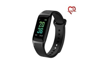 (Black) - Rorsche Fitness Tracker,Heart Rate Monitor Colour Screen Smart Watch With Sleep Monitor, Step Counter, 14 Sports Modes Smart Watch IP67 Waterproof Bluetooth Pedometer for Men, Women and Kids