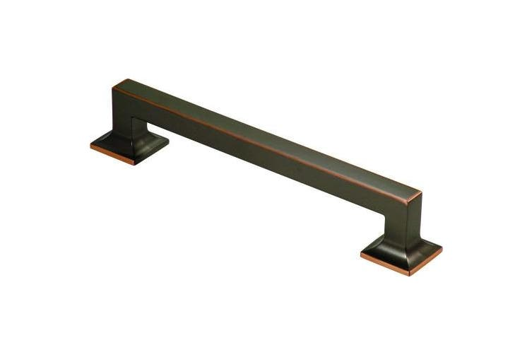 (8 Inch, Oil-Rubbed Bronze Highlighted) - Hickory Hardware P3017-OBH Studio Collection Oil-Rubbed Appliance Pull
