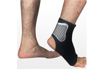 (Large, Black) - angel3292 Ankle Sprain Brace Foot Support Bandage Achilles Tendon Strap Guard Protector