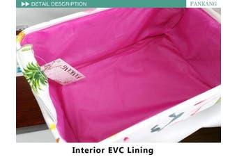 (Flamingo) - Rectangular Fabric Storage Bin Laundry Basket with Flamingo Prints Nursery Storage, Storage Hamper,Book Bag,Gift Baskets(Flamingo)