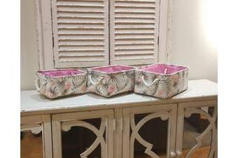(Flower) - Rectangular Fabric Storage Bin Laundry Basket Nursery Storage Hamper,Book Bag,Gift Baskets(Flower)
