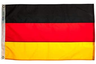 (0.6m x 0.9m) - Annin Flagmakers Model 192895 Germany Flag 0.6m x 0.9m Nylon SolarGuard Nyl-Glo 100% Made in USA to Official United Nations Design Specifications.