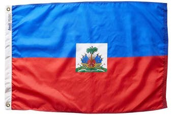 (0.6m x 0.9m) - Annin Flagmakers Model 193355 Haiti Flag 0.6m x 0.9m Nylon SolarGuard Nyl-Glo 100% Made in USA to Official United Nations Design Specifications.