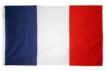 (0.9m x 1.5m) - Annin Flagmakers Model 192685 France Flag 0.9m x 1.5m Nylon SolarGuard Nyl-Glo 100% Made in USA to Official United Nations Design Specifications.