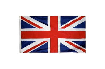 (0.9m x 1.5m) - Annin Flagmakers Model 198893 United Kingdom Flag 0.9m x 1.5m Nylon SolarGuard Nyl-Glo 100% Made in USA to Official United Nations Design Specifications.