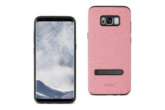 REIKO SAMSUNG GALAXY S8 EDGE/ S8 PLUS DENIM TEXTURE TPU PROTECTOR COVER IN PINK