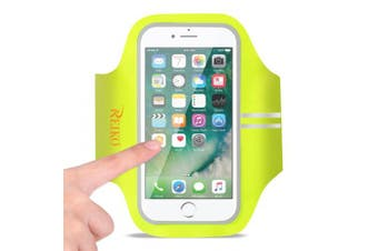 REIKO RUNNING SPORTS ARMBAND FOR IPHONE 7/ 6/ 6S OR 13cm DEVICE IN GREEN (13cm x 13cm )