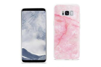 Reiko Samsung Galaxy S8 Edge/ S8 Plus Streak Marble Cover In Pink