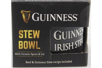 Guinness Ceramic Stew Bowl, Comes With Spoon And Lid