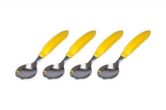 BIA Cordon Bleu Banana Handle Spoons, Set of 4, Yellow