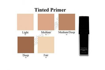 (Deep) - Beauty Deals Tinted Face Primer Broad Spectrum SPF 20 Hydrates Smooths and Protects Skin (Deep)