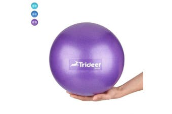 (Purple (23cm)) - Trideer Pilates Ball, Barre Ball, Mini Exercise Ball, 23cm Small Bender Ball, Pilates, Yoga, Core Training and Physical Therapy, Improves Balance (Home & Gym & Office)