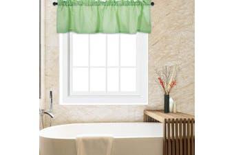 "(150cm  * 38cm |Valance, Seafoam Green) - CAROMIO Waffle Woven Textured Valance Curtains Window Curtain Valance Rod Pocket Tailored Kitchen Valance Curtain Bathroom Valance Cafe Valance 60"" x 15"" Pure Colour Rod Pocket Seafoam Green"