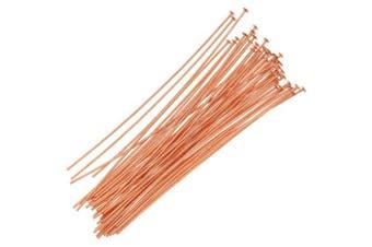 Beadaholique Head Pins, 5.1cm Long and 24 Gauge Thick, 50 Pieces, Copper