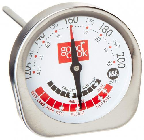 (Meat Thermometer) - Good Cook Classic Meat Thermometer NSF Approved Style Name: Meat Thermometer Stay still, non-rolling head design. Able to be calibrated. Stainless steel. It is manufactured in United States.