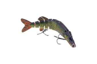 (ColorD) - BOMSO 1pc 13cm 20ml Lifelike Multi Jointed 8 Segement Swimbait Crankbait Hard Bait Pike Muskie Fishing Lure Fish Artificial Bait Treble Hook