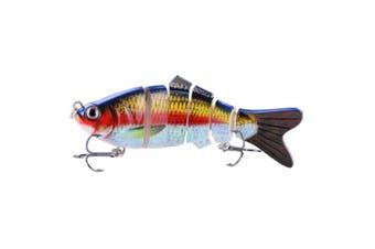 (ColorC) - BOMSO 5pcs/1pc Fishing Lure 6 Segment Swimbait Crankbait Rugged and Durable Lifelike Hard Bait 18g 10cm with 6# Fishing Hook