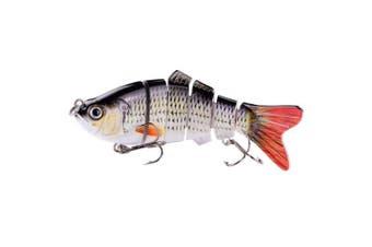 (ColorD) - BOMSO 5pcs/1pc Fishing Lure 6 Segment Swimbait Crankbait Rugged and Durable Lifelike Hard Bait 18g 10cm with 6# Fishing Hook