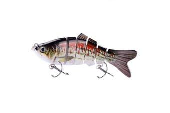 (ColorE) - BOMSO 5pcs/1pc Fishing Lure 6 Segment Swimbait Crankbait Rugged and Durable Lifelike Hard Bait 18g 10cm with 6# Fishing Hook