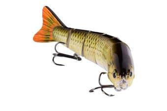 (Colora) - BOMSO 5pcs/1pc Fishing Lure 6 Segment Lifelike Trouts Swimbait Multi Jointed Artificial Bait Crankbait Hard Bait High Carbon Steel Treble Hook