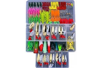 Bluenet Fishing Lure Set Soft Plastic Hard Lures Spinnerbaits Artificial Baits Tackle Box