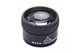 """(30x(without handle)) - Desktop 30X Jewellery Loupe 36mm/1.4"""" Double Deck Glass Magnifying Eye Loops,Handheld Mini Microscope Magnifier for Small Prints,Diamonds, Coins, Miniatures, Craft and Map"""